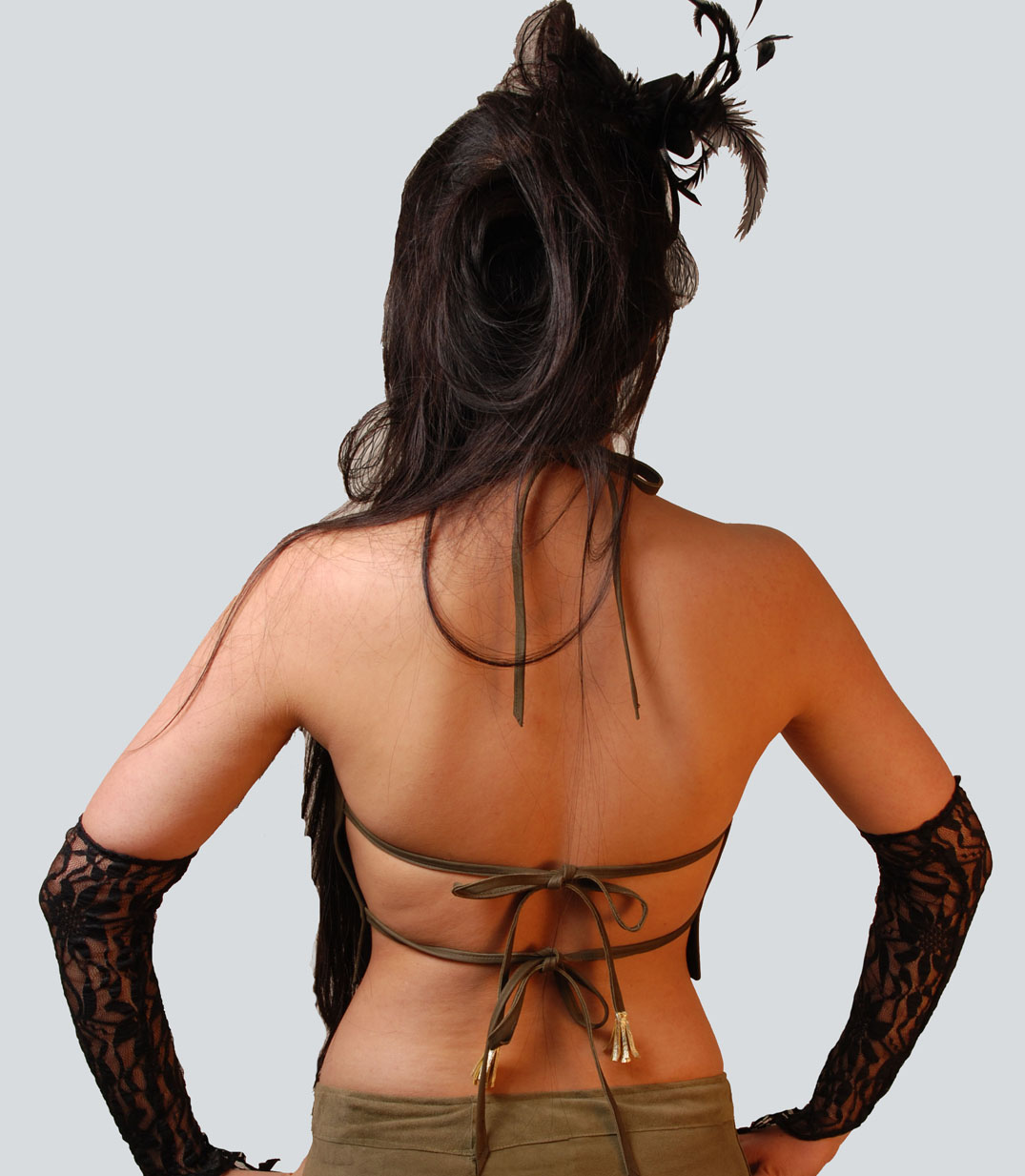Trixie Olive Leather backview.