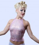 Trixie Lilac Sequin Top