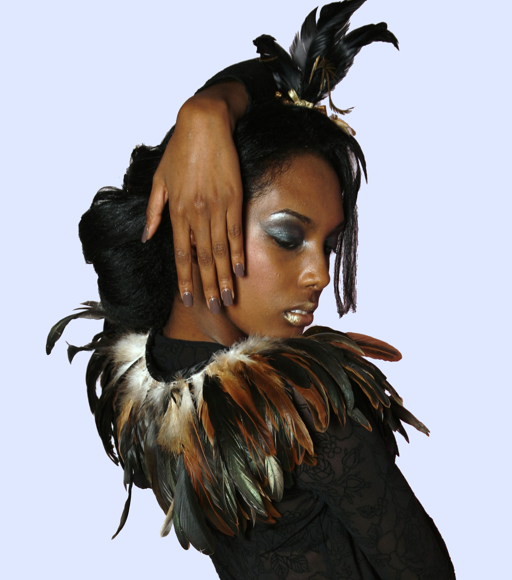 Brown Feather Cape